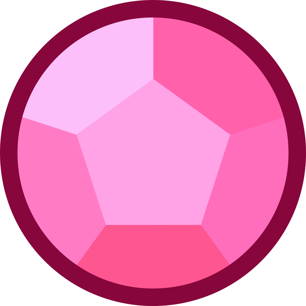 Steven Universe Rose Quartz Symbol: Rose Quartz Vector By MrBarthalamul On
