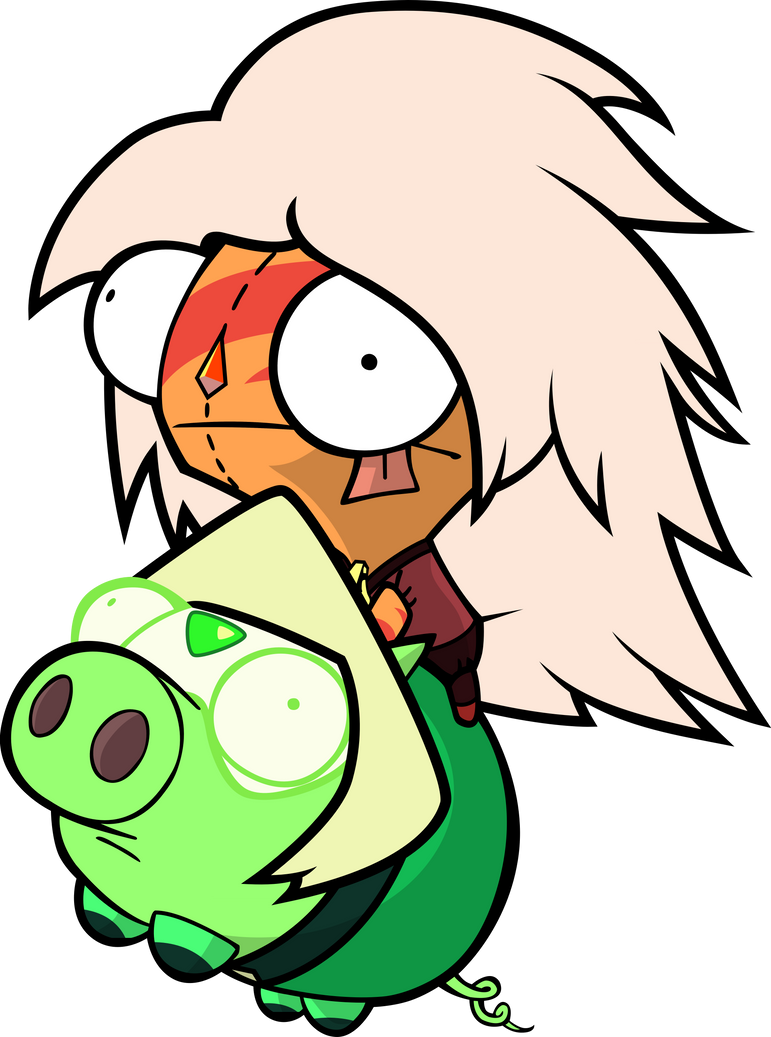 I haven't made one of these in a while! I was on the Steven Universe subreddit and saw a comment somewhere about Peridot with a pigs face...and I instantly wanted this to exist! I really like those...