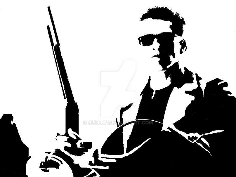 Terminator Stencil by SLUR07