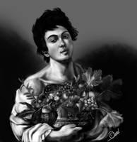 Fanciulllo con canestro di frutta by OuzelRS