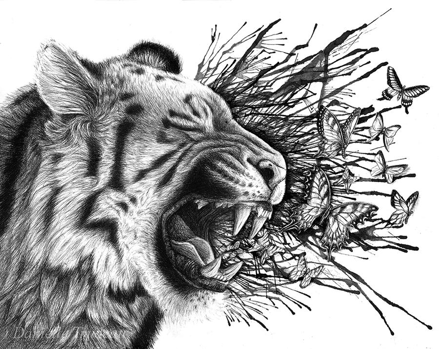 Tiger Side Drawing | www.imgkid.com - The Image Kid Has It!