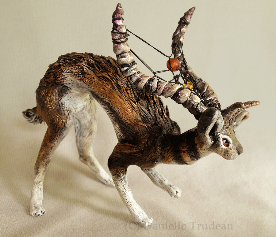 Jai - Jackalope Dreamweaver Sculpture by LuxDani