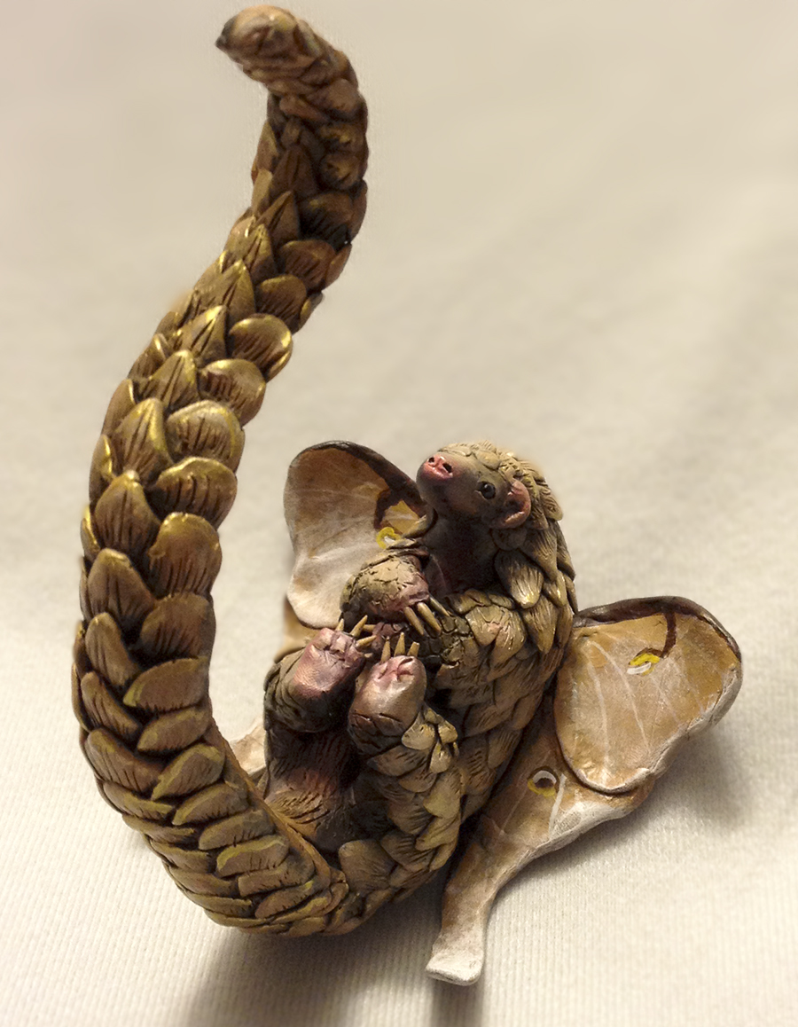 The Littlest Pangolin - Sculpture by LuxDani