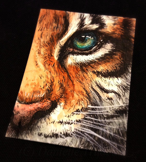 You Are Golden - ACEO Trade by LuxDani