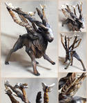 Fantasy Markhor Sculpture by LuxDani
