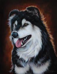 Dog Portrait Commission by LuxDani