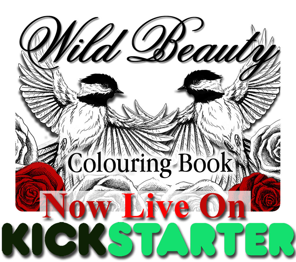 Wild Beauty Colouring Book - Kickstarter Launch by LuxDani