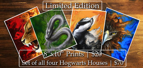 Hogwarts Houses - Limited Edition Prints