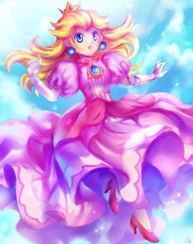 Floating Peach