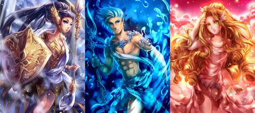 Gods of Olympus by KagomesArrow77