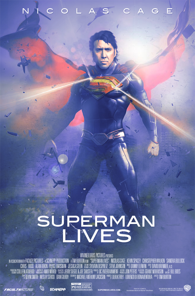 Superman lives fan poster by timmax9 on deviantart