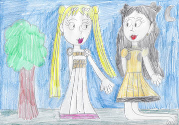 Princess Serenity and Human Luna