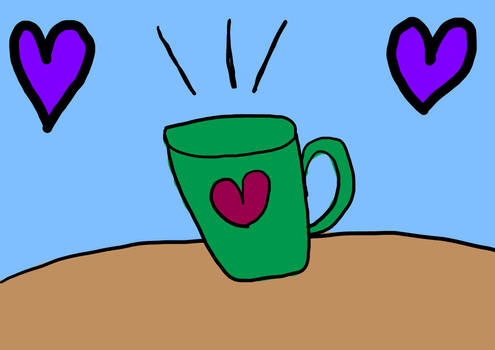 Mug full of Hearts (Krita Painting)