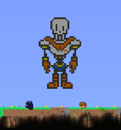 Terraria Pixel Art - Papyrus by Skele-Rez on DeviantArt