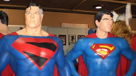 Supermen statues by force2reckon