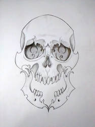 Skull Sketch by Fgore