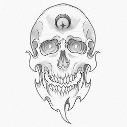 Another Skull for tattoo and inktober :) by Fgore