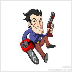 Ash vs Evil Dead tiny illustration by Fgore