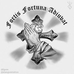 Fortis Fortuna Adiuvat @alangoretattoo (john wick) by Fgore