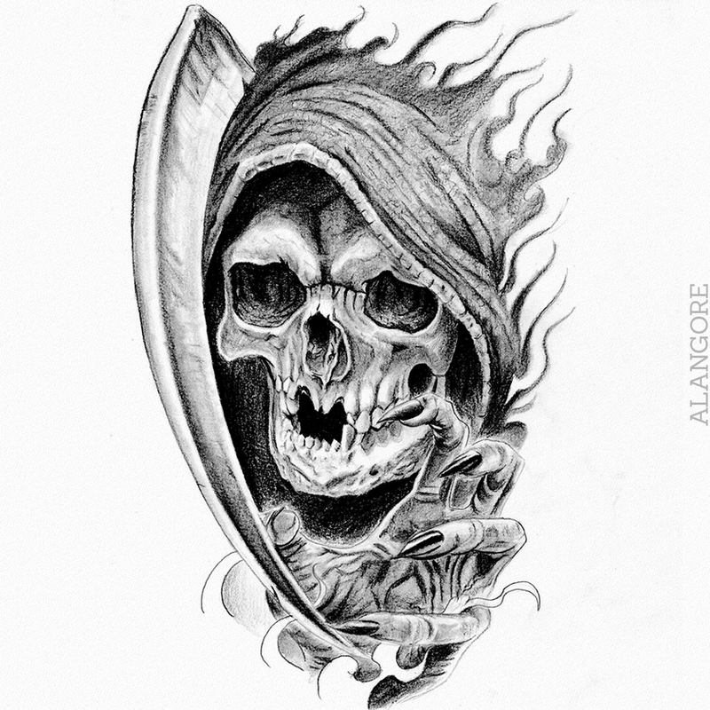 Death drawing by Fgore