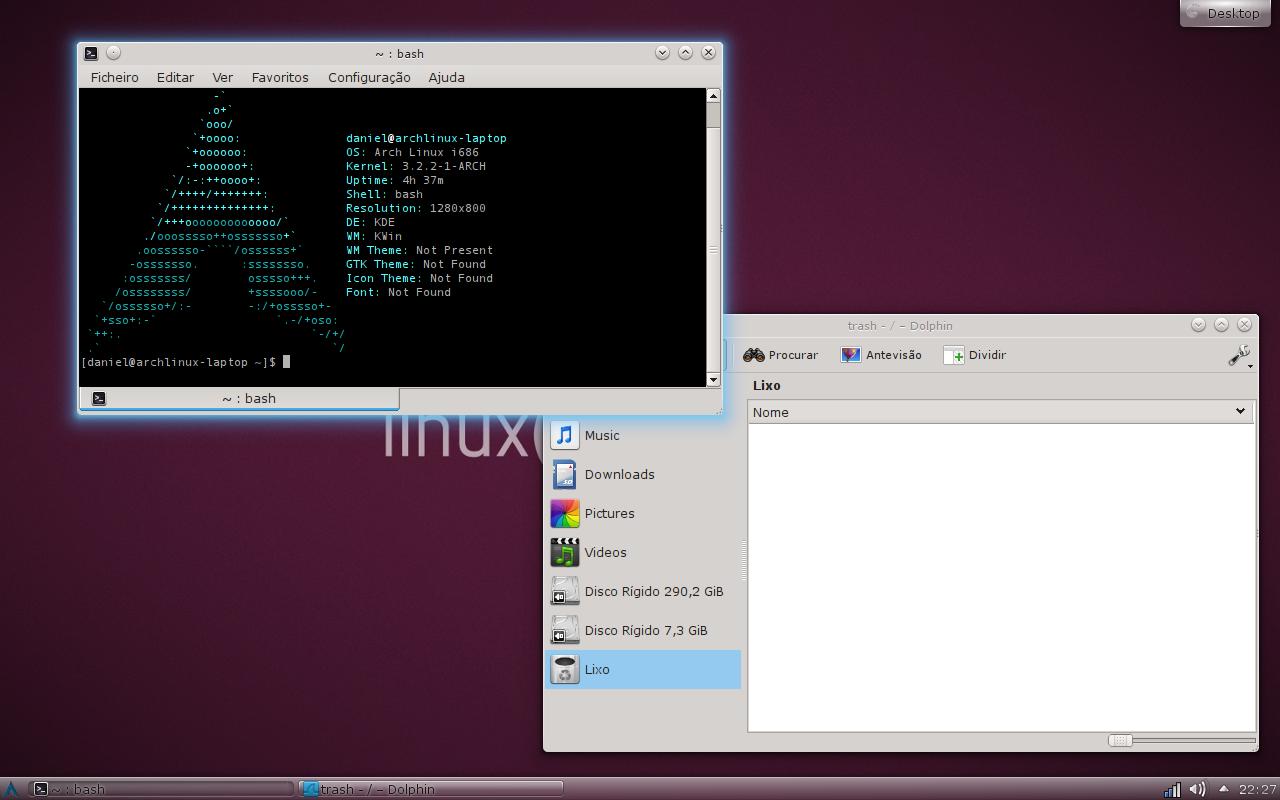 Arch Linux - KDE 4 8 - 2 by iDogzilla on DeviantArt