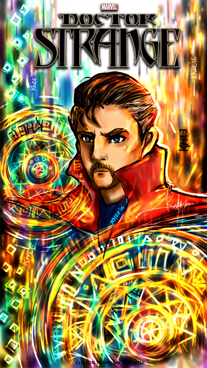 Dr Strange Fan Poster by KheeKhee