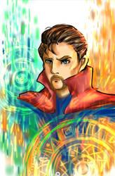 Doctor Strange WIP 2 by KheeKhee