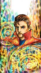 Doctor Strange WIP 3 by KheeKhee