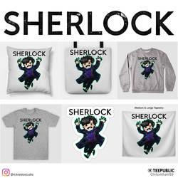 Sherlock on Teepublic by KheeKhee