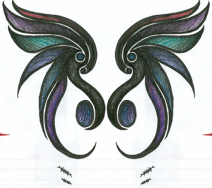 Fae Wings - shoulder tattoo