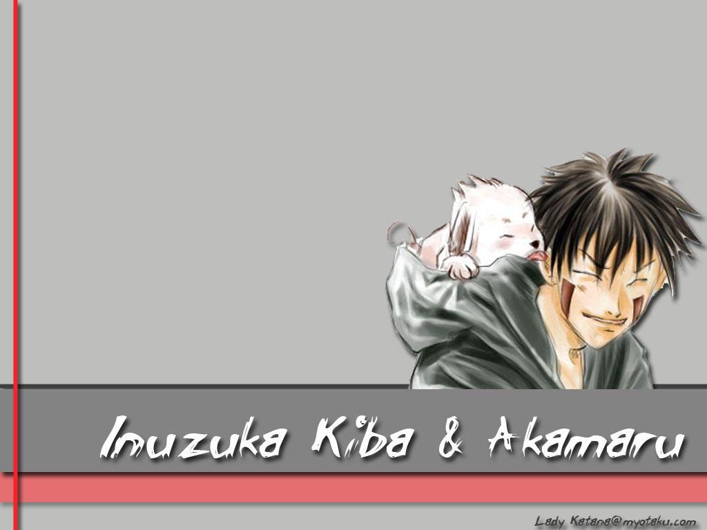 Inibuza, Kiba Kiba_and_Akamaru_wall_by_LadyKatana