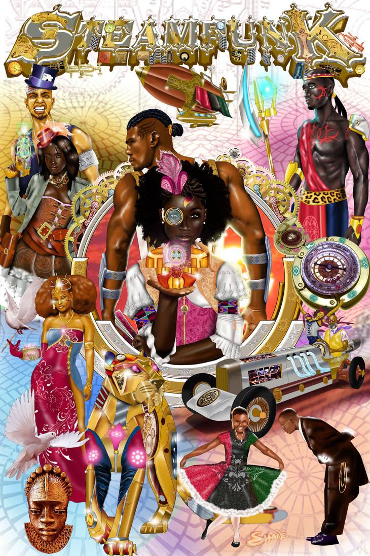Steamfunk! Anthology Cover by Djele