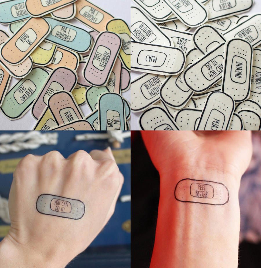 Depression Is Hell Tattoo Submit Your Tattoo: Bandaid Tattoos By Brandnew On DeviantArt