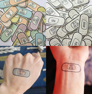 bandaid tattoos
