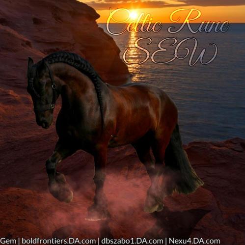Sunset Friesian Avatar