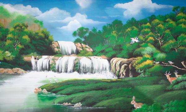 Mural painting jungle by faizaldin on deviantart for Mural sekolah