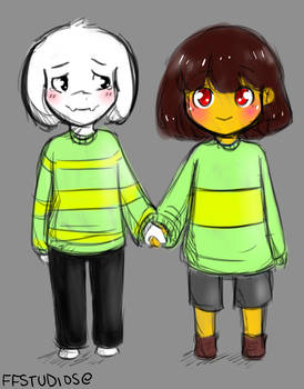 Asriel and Chara - Undertale
