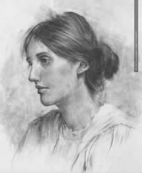 Virginia Woolf by greyfin
