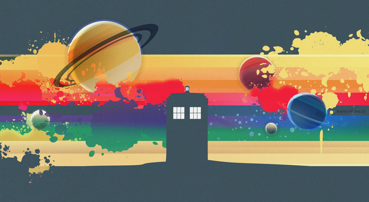 A colourful universe by greyfin