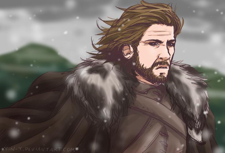 Drawing commitment - Eddard Stark by Y-n-Y