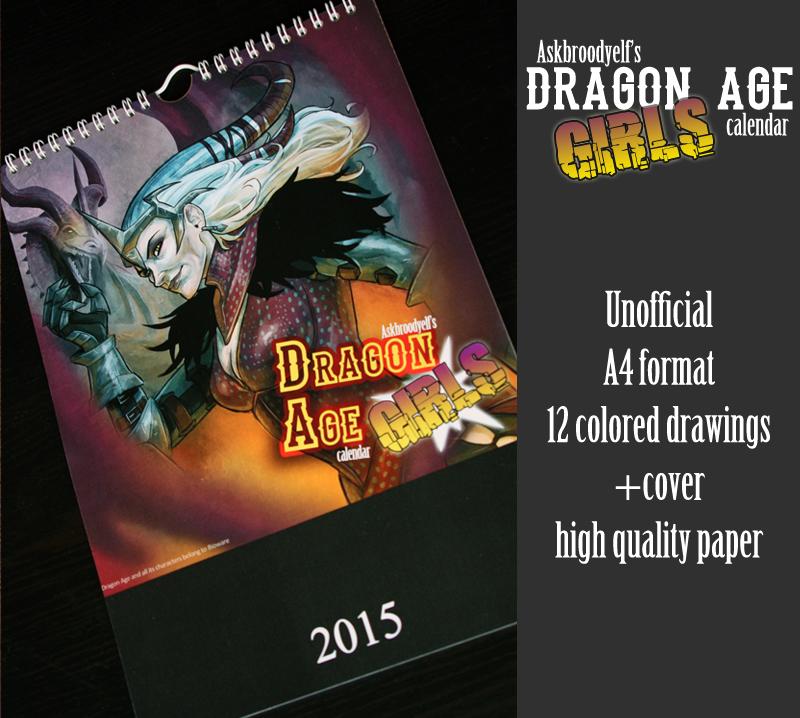 Dragon Age Girls 2015 Calendar: SALE OPEN! by Y-n-Y