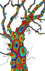 Rainbow Tree by SneddoniaDesigns