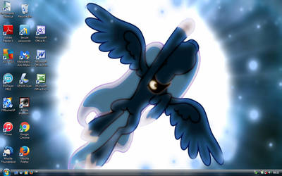Moonlight Shadow Desktop by SneddoniaDesigns