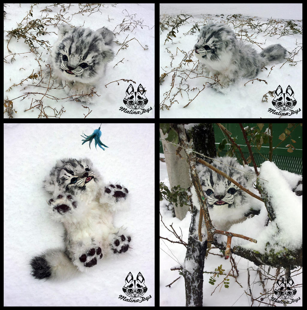 Hand Made Baby Snow Leopard By MalinaToys