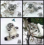Hand made: Baby snow leopard