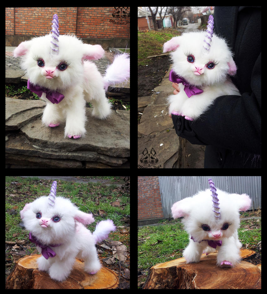Hand Made Poseable Baby Unicorn By MalinaToys