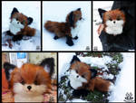 Hand made: Poseable fox cub