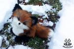 Hand made: Poseable fox cub