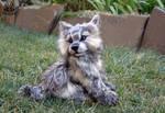 Handmade Poseable Wolf Cub