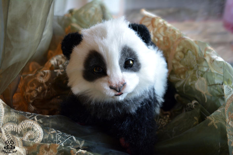 Little Panda Toys : Poseable toy commission little panda by malinatoys on